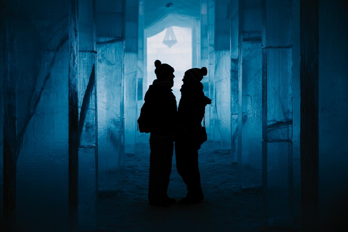 Jukkasjärvi icehotel sweeden couple love destination wedding