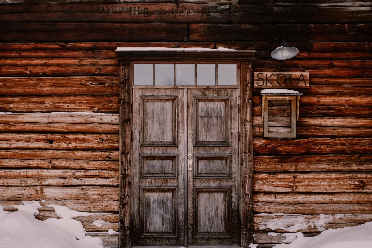lapland sweden jukkasjarvi home wood