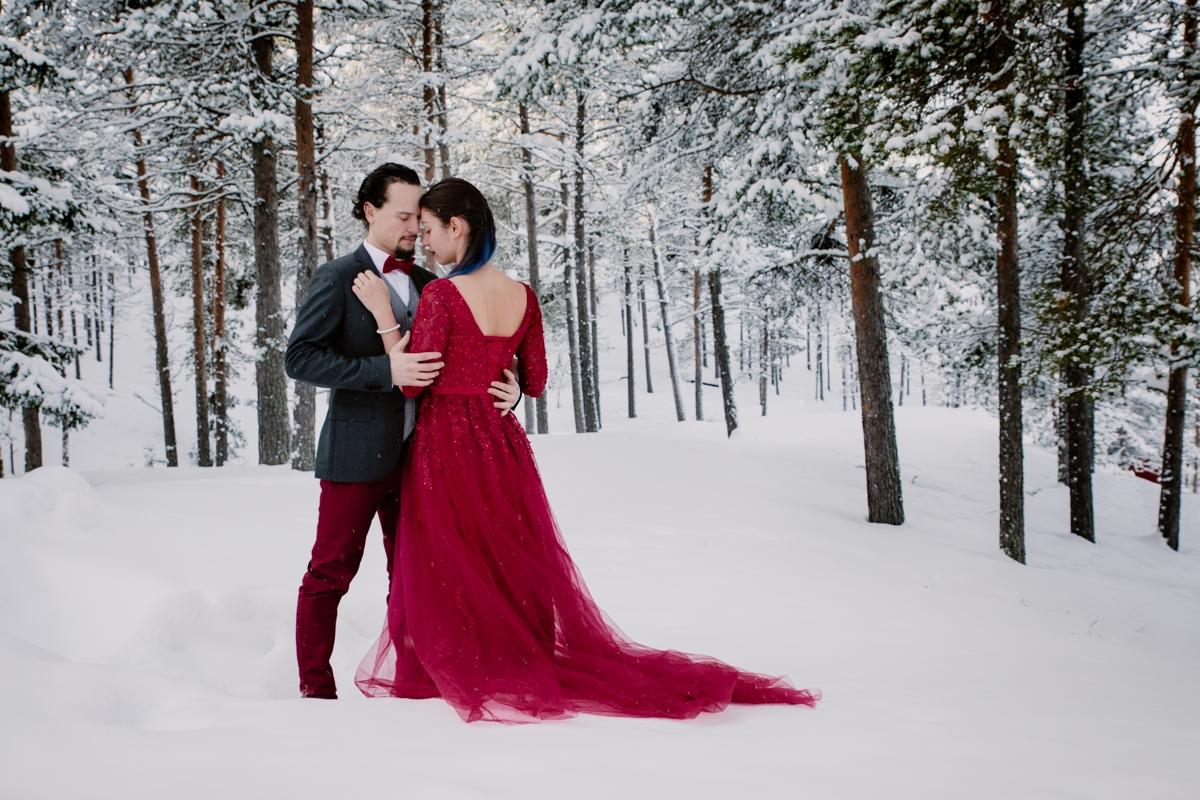 destination photography elopement lapland sweden