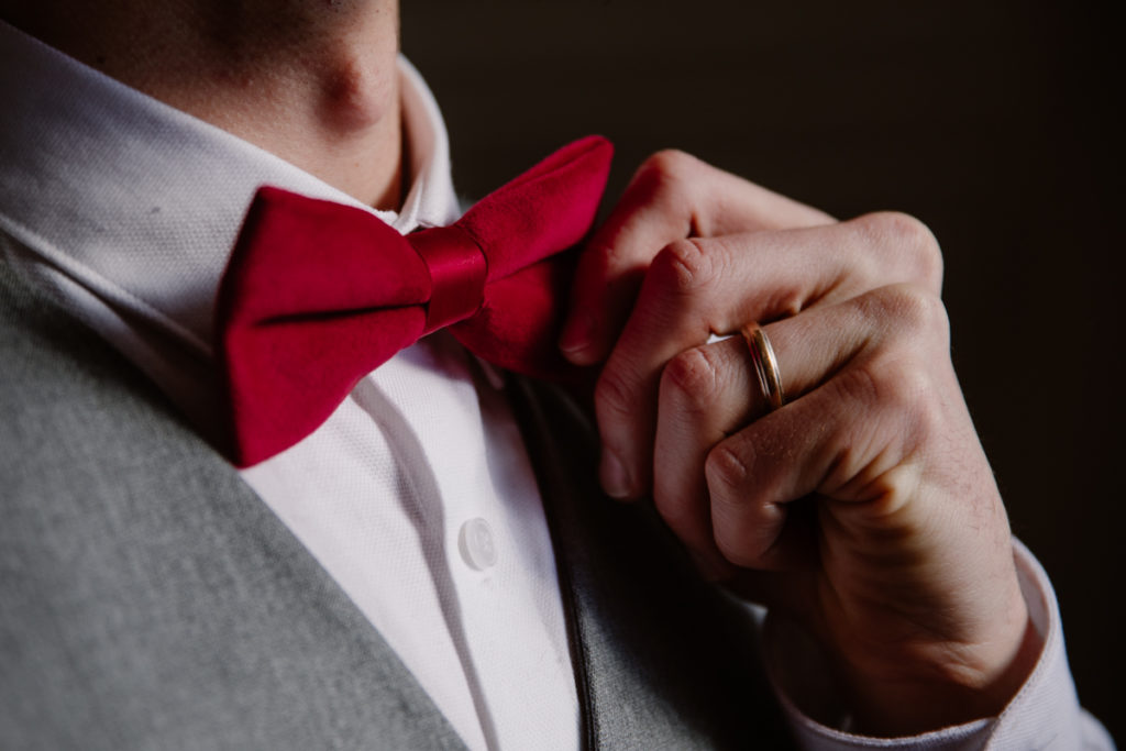 bow tie red wedding