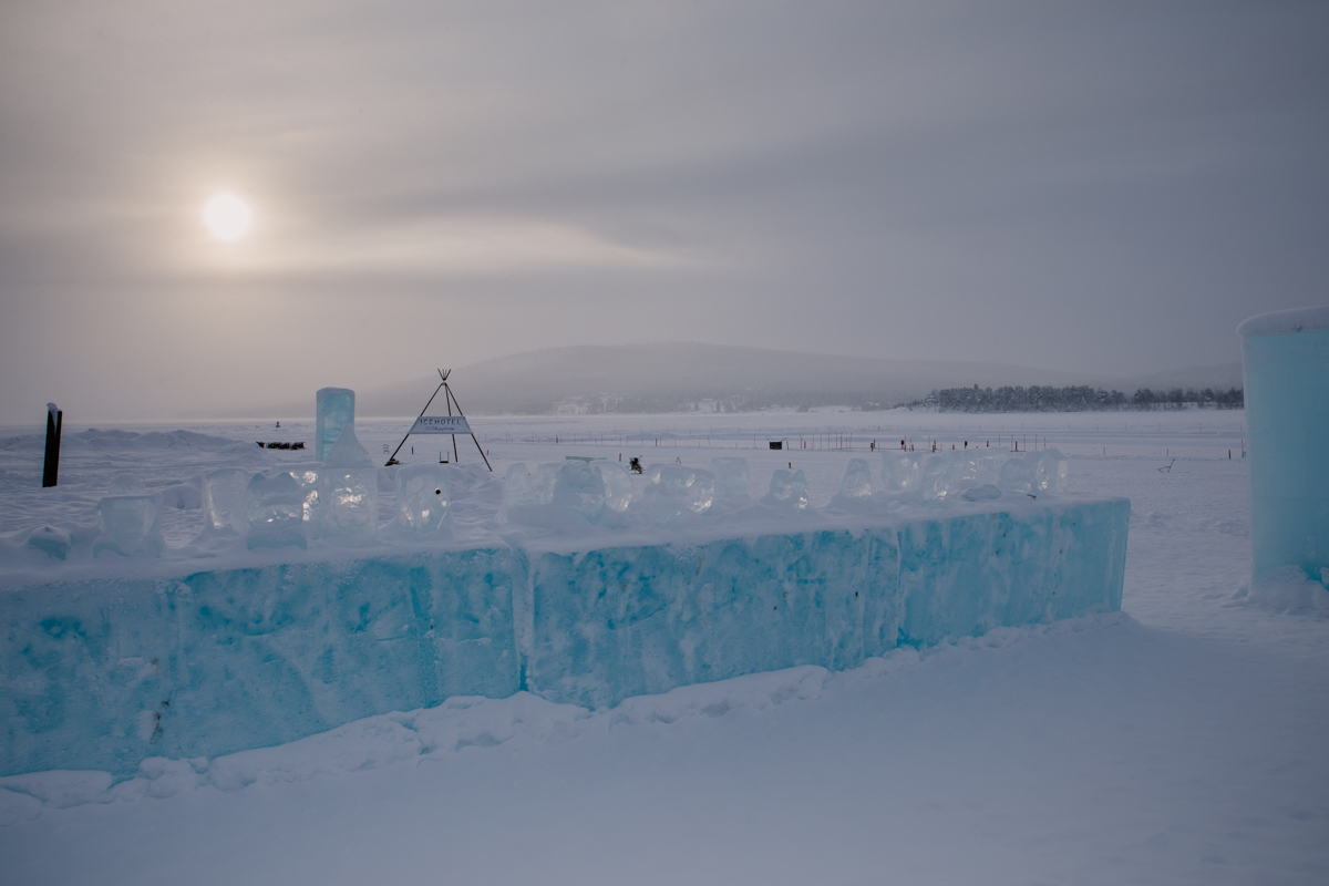 Jukkasjärvi icehotel sweeden landscape