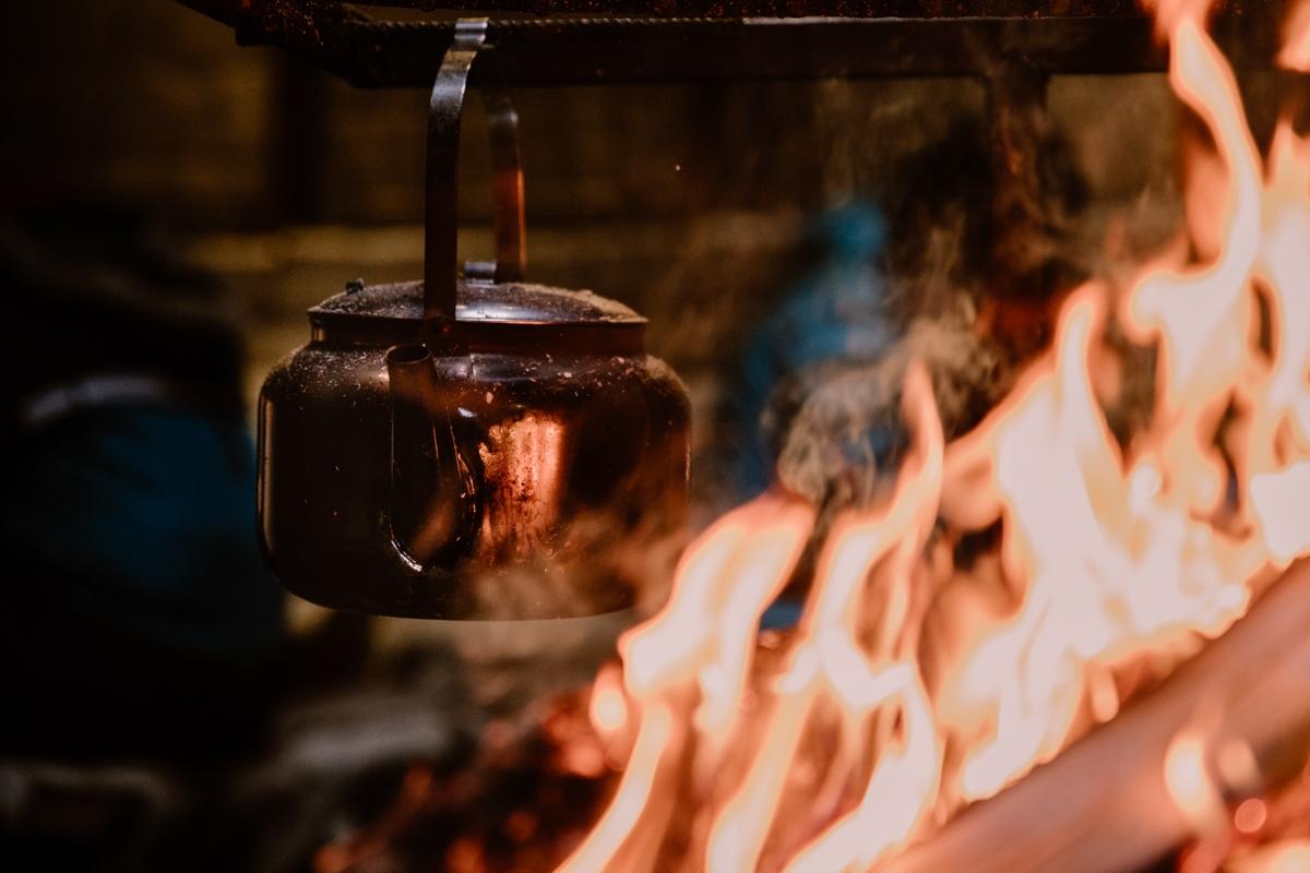 Jukkasjärvi lapland sweden sami camp fire