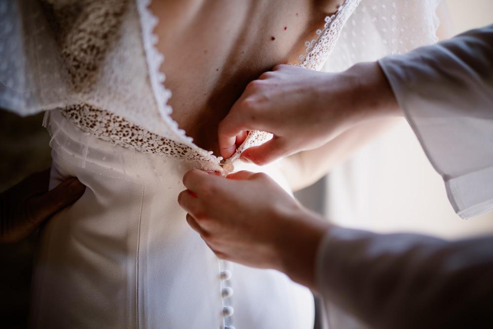 photos des préparatifs mariage Nantes robe