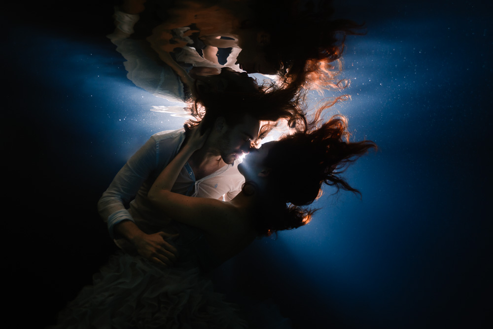 photographe trash the dress underwater nantes